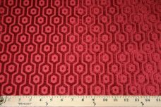Hexagon Chenille - Red