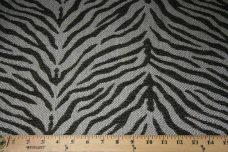 Woven Zebra Chenille - Charcoal