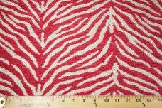 Woven Zebra Chenille - Fuchsia