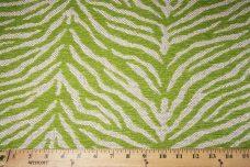 Woven Zebra Chenille - Lime