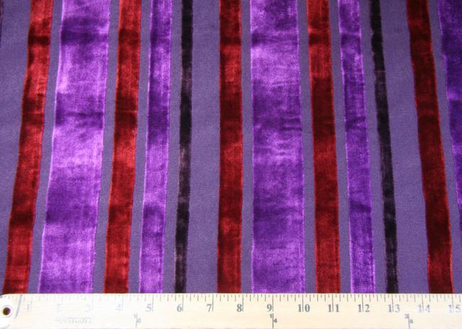 Velvet Cutout Stripe - Purple