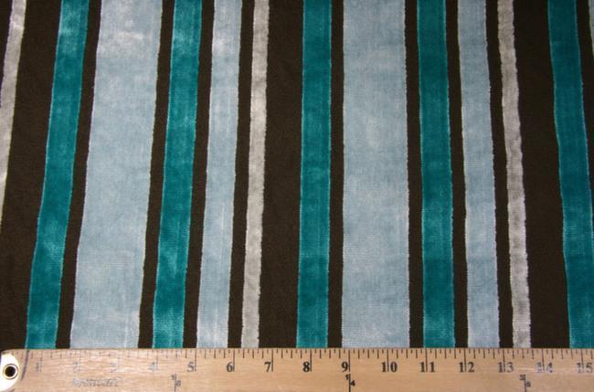 Velvet Cutout Stripe - Aquamarine