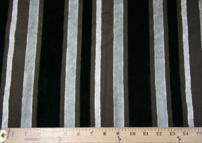 Velvet Cutout Stripe - Black