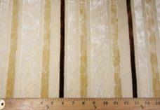 Velvet Cutout Stripe - Ivory