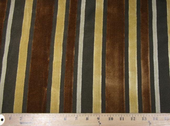 Velvet Cutout Stripe - Camel