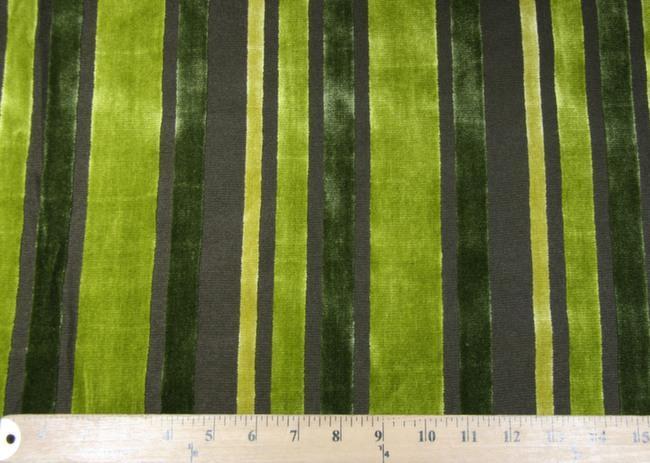 Velvet Cutout Stripe - Green