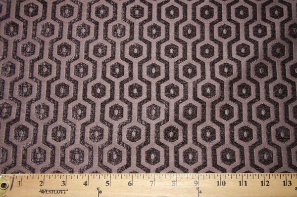 Hexagon Chenille - Smokey Purple