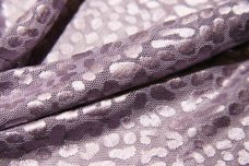 Dusty Lavender Cheetah Stretch Lace