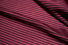 Micro Stripe Stretch Poly Tricot - Black & Grey