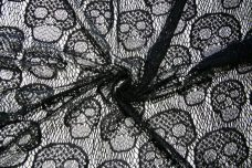 Black Skull Polyester Lace
