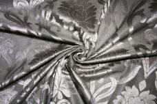 Jumbo Lotus Damask Velvet - Silver