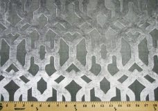 Jumbo Lattice Velvet - Silver