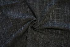 Crosshatch Chenille Tweed - Black & Slate