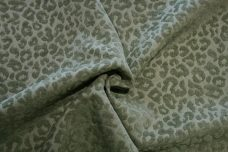 Cheetah Textured Chenille - Sage