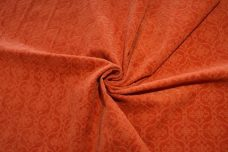 Damask Cutout Velvet - Dusty Orange