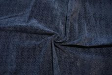 Damask Cutout Velvet - Navy