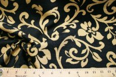 Black & Ochre Floral Chenille