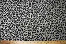 Cheetah Chenille - Silver