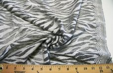 Black & Silver Zebra Lace