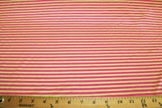 Mini Stripe Stretch Poly Tricot - Pink & Green