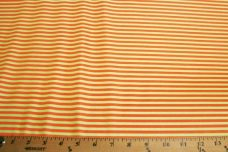 Mini Stripe Stretch Poly Tricot - Orange & Green