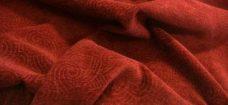 Swirl Textured Chenille - Brick