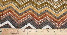 Large Chevron Chenille - Rust
