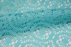 Aquamarine Open Knit Cotton/Poly Lace