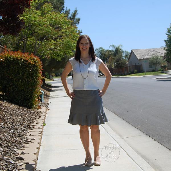 Self-Drafted Flounce Skirt   MadeByJaime for TheFabricMarket.com