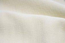Ivory Geometric Brocade Cotton/Rayon Blend