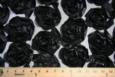 Jumbo Floral on Mesh - Black