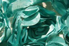 Jumbo Floral on Mesh - Aquamarine