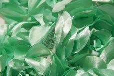 Jumbo Floral on Mesh - Mint