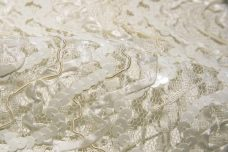 Ivory Chevron Sequin Lace