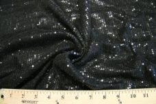Black Sequin Stretch Knit