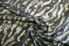 Zebra Sequin Stretch Knit