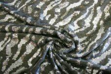 Zebra Sequin Stretch Knit