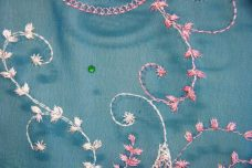 Embroidered Paisley Chiffon - Teal