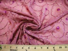 Flourish Sequin Chiffon - Purple