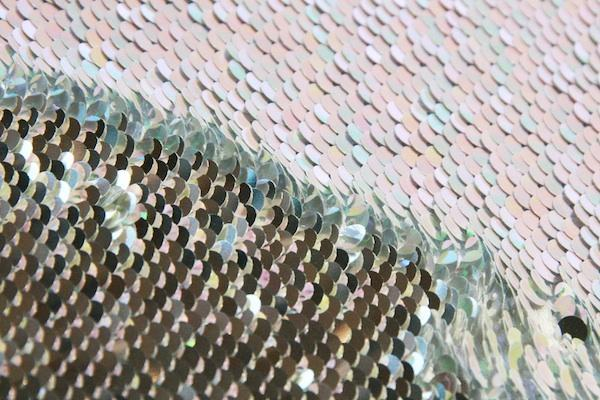 Reversible Sequin - Silver & AB Opal