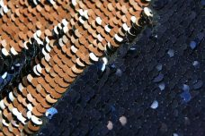Reversible Sequin - Navy & Gold