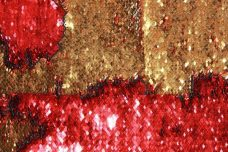 Reversible Sequin - Bright Gold & Red