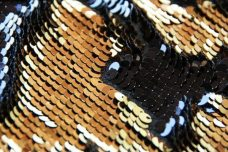 Reversible Sequin - Black & Bright Gold