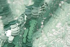 Wave Sequin Lace - Seafoam