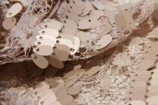 Wave Sequin Lace - Beige