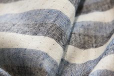 Blue Double-sided Stripe Chambray