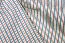 Pink & Blue Cotton Chambray Ticking