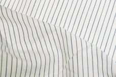 Ivory & Blue Pinstripe Chambray