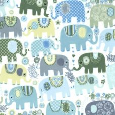 Happy Elephants Minky