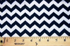 Small Chevron - Black / Baby Blue